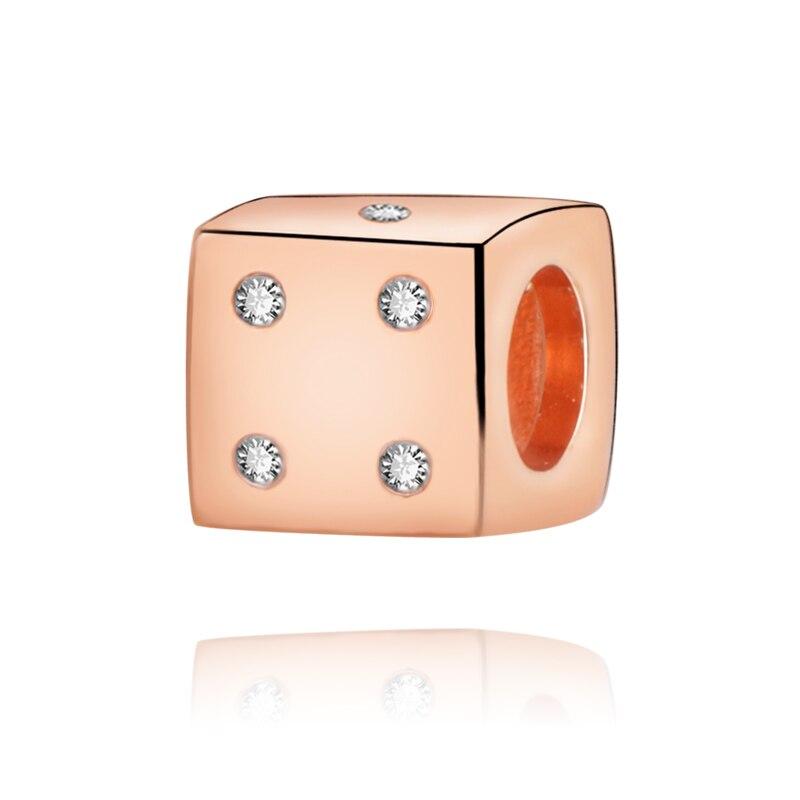 Valentine 2020 genuine100 % koraliki olśniewające kości Charm fit oryginalne europejskie bransoletki kobiety DIY biżuteria