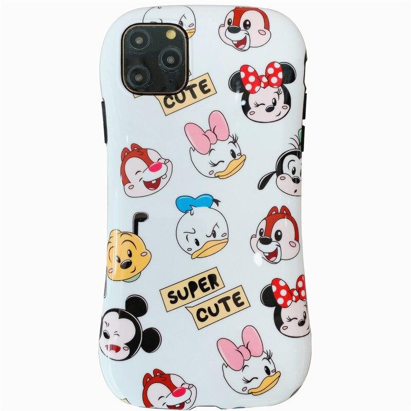 Iface funda de teléfono Mickey Minnie brillante familia Linda pequeña cintura funda para el iPhone 7 8 X Xs XR Xs MAX 11 11Pro 11Promax