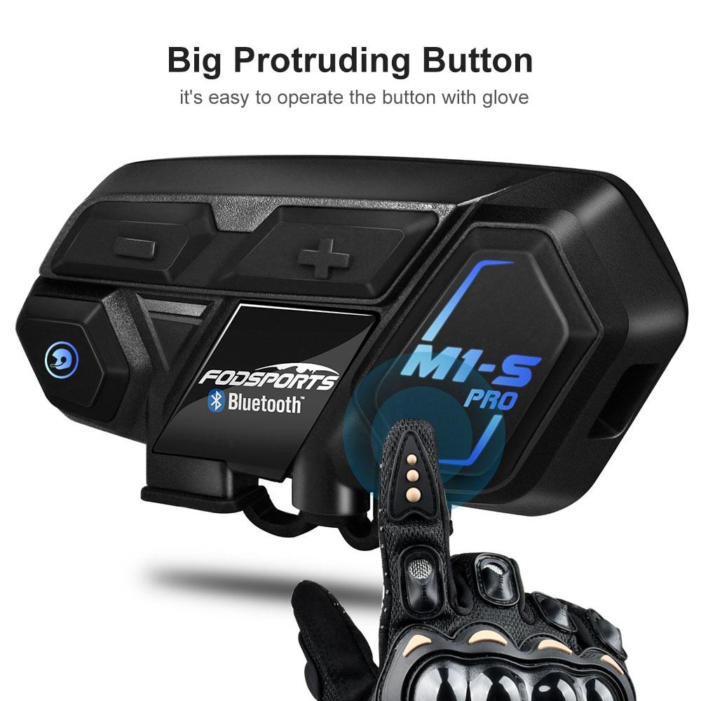 Fodsports M1-S Pro Motorcycle Bluetooth Helmet Headset for 8 Riders Intercom Motorcycle intercomunicador moto блютуз гарнитура