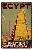 retro metal tin sign egypt decor bar pub poster home decoration art vintage mural dimensions 20x30 cm