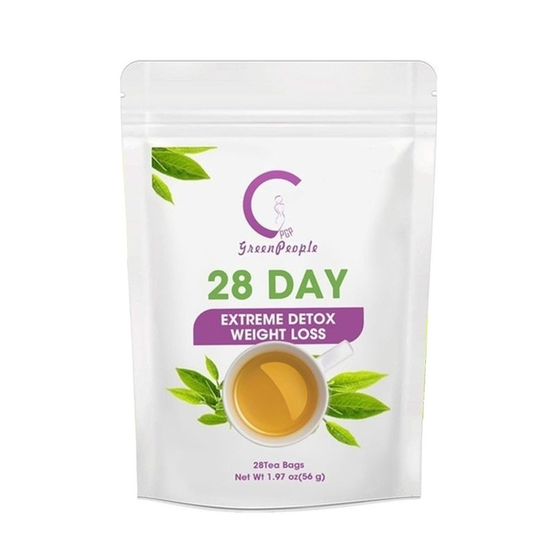 28 Day Greenpeople Detox Slimming Tea Fat Burn Reduce Bloating And Constipation Weight Loss Cleanse Body Healthy Drink