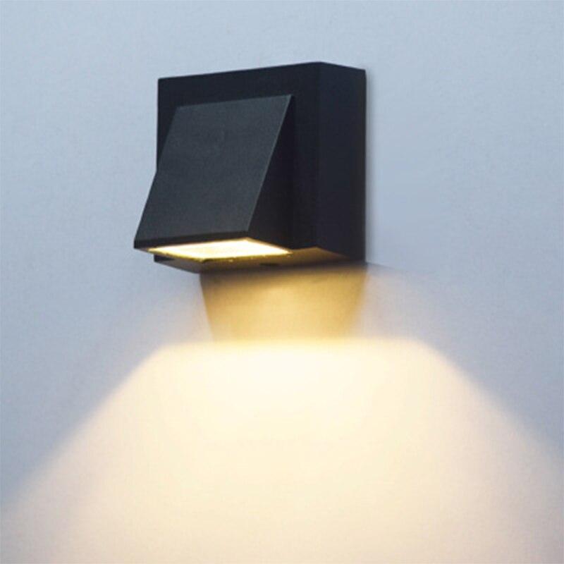 Lámparas LED para exteriores, 3W, 6W, modernas, simples, creativas, impermeables, lámparas de pared para patio, apliques para escaleras, balcón, jardín, alumbrado Exterior de pared