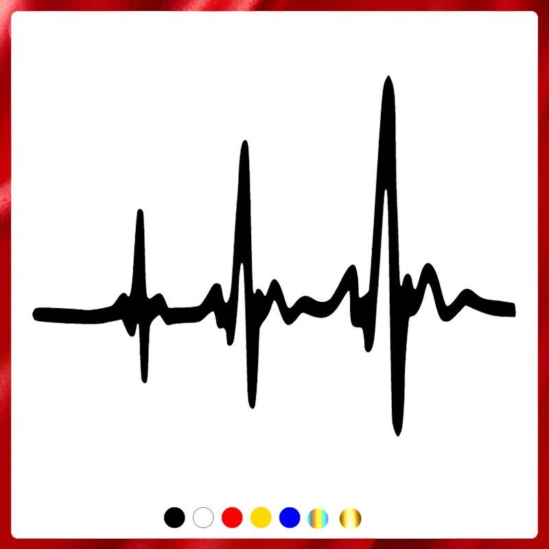 40473# наклейки на авто Сердечный ритм водонепроницаемые наклейки на машину наклейка для авто автонаклейка стикер этикеты винила наклейки ст...