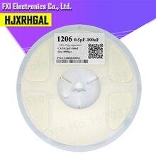 1reel 4000pcs 1206 50V SMD Thick Film hjxrhgal Chip Multilayer Ceramic Capacitor 0.5pF-100uF 10NF 100NF 1UF 2.2UF 4.7UF 10UF 1PF