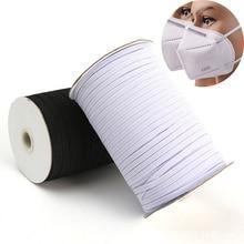 3/6/8/10/12mm elástico de costura elástico fita cabo elastano borracha banda guarnição costura tecido diy acessórios para vestuário 5 jardas