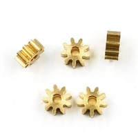 9t 2a 0 6m copper gear 9 teeth holes 1 98mm thickness 3mm 6mm metal small modulus pinion 6 6mm diameter 5pcslot