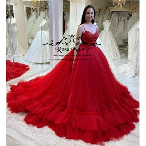 Sparkly Red Ball Gown Prom Dresses 2021 Plus Size Vintage Lace Sequined Beaded Plus Size vestidos largos de fiesta Party Gowns