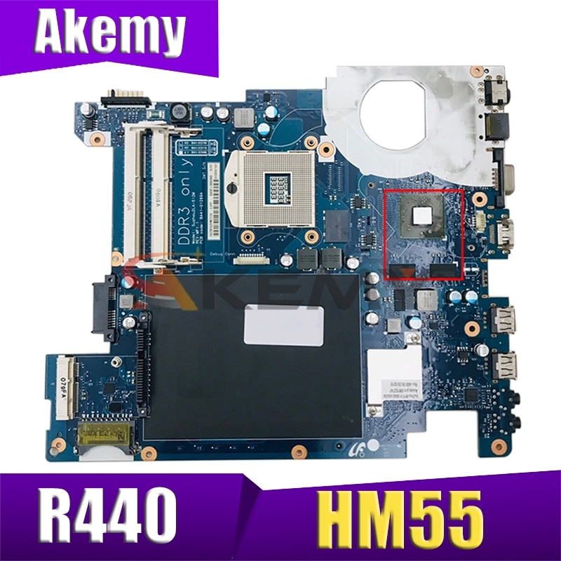 AKEMY لسامسونج R440 NP-R440 اللوحة المحمول HM55 DDR3 HD 4500 وحدة المعالجة المركزية الحرة وحدة المعالجة المركزية BA92-06504B BA92-06504A BA41-01270A