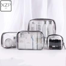 XZP Transparent Cosmetic Bag PVC Women Zipper Clear Makeup Bags Beauty Case Make Up Organizer Storag