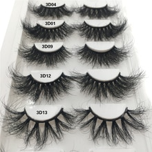 100% Mink Lashes 25mm 3D Mink Eyelashes Extension Makeup Natural False Eyelashes Fluffy Messy Lash Extension Fake Eyelashes