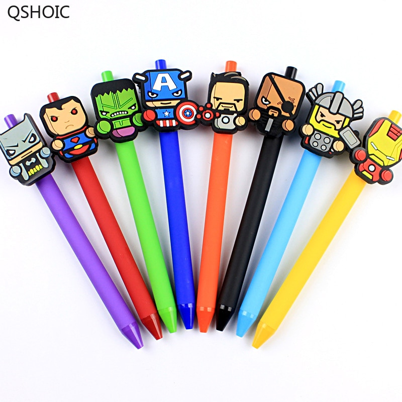 36pcs/lot Creative Cartoon Gel Pen Black Ink Sign Pen Office School Supplies