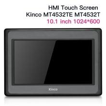 Novo 10 colors mtPolegada kinco mt4532te mt4532t hmi tela de toque 65k cores 1024*600 ethernet porto humano máquina interface painel cabo dados