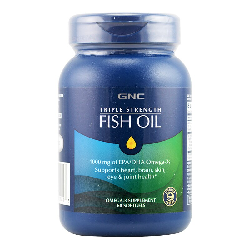 Envío Gratis aceite de pescado 1000 mg de Omega-3s EPA/DHA soporta la salud del corazón, el cerebro, la piel, los ojos y las articulaciones 60 uds.