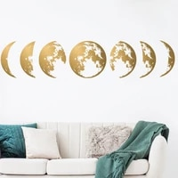 creative moon phase 3d wall stickers home living room decoration diy art wall decals home decor sofa background mural wallpaper