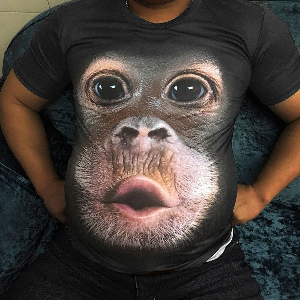 Camiseta divertida con estampado 3D de Gorilla Monkey para hombre, camisetas informales de manga corta con cuello redondo, camisetas de moda para hombre 2020, camisetas d88