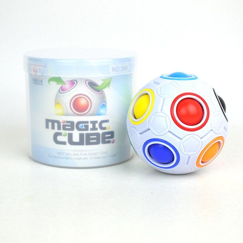 BOLA MÁGICA creativa 3D, Bola de arco iris, cubo pelota de balompié, rompecabezas en forma de rompecabezas para niños, educación de aprendizaje, juguete para regalo divertido para padres e hijos