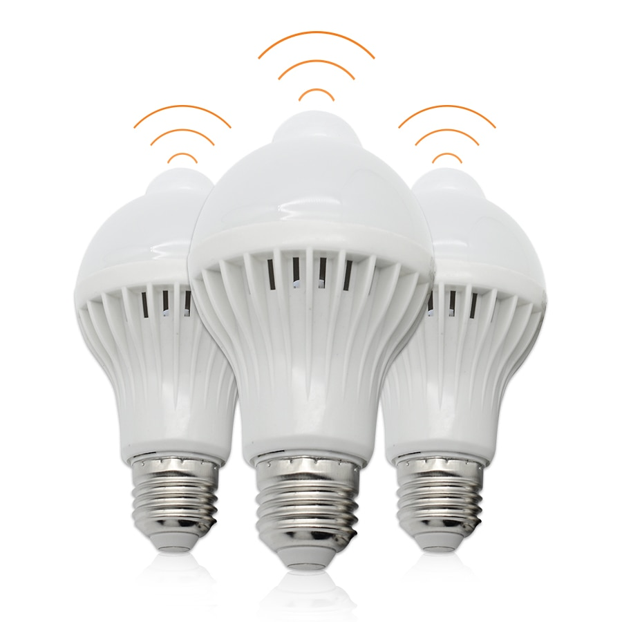 E27 lâmpada de indução do corpo humano 5 w 7 w 9 lâmpadas led 110 v 220 v detecção de corpo infravermelho inteligente lâmpadas led sensor pir iluminação interna