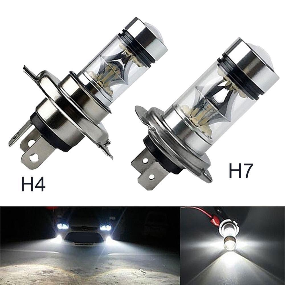 100W H4 H7 Super Bright 20SMD LED Car Daytime Running Driving Fog Light Lamp автомобильные товары