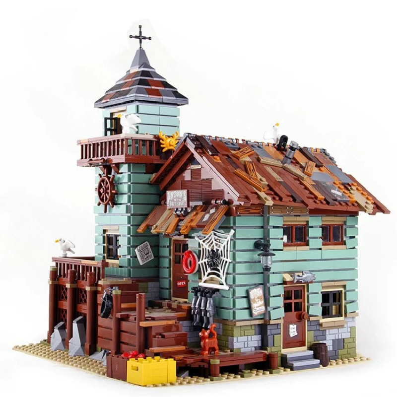 16050 Creator Ideas City Series Seaside Old Fishing Shop Building Block Bricks Toys Compatible With Lepining 21310 Movie