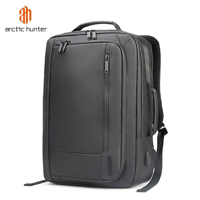 ARCTIC HUNTER-حقيبة ظهر مقاومة للماء للرجال ، حقيبة ظهر للكمبيوتر المحمول ، للسفر ، مع شحن USB