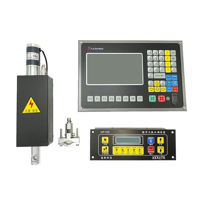 تحكم البلازما + THC + رافع عدة SF-2100C 2 محور البلازما تحكم + HP105 مفتاح التحكم في الارتفاع المزود بمصباح + JYKB-100 Lifer NEWCARVE