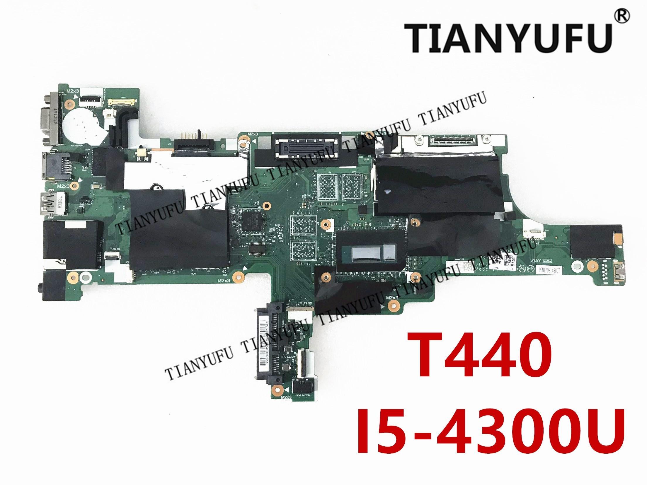 Для LENOVO Thinkpad T440 Материнская плата ноутбука 04X5012 04X5010 04X501104X5014 VIVL0 NM-A102 I5-4300U материнская плата протестированная 100% работа