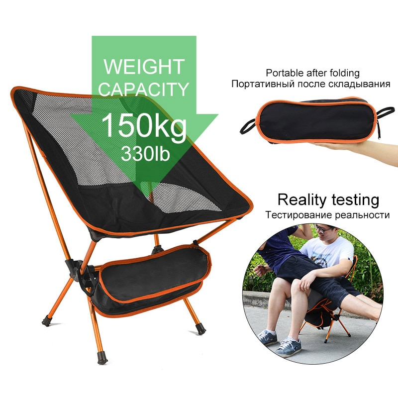 Ultralight Folding Camping Chair Fishing BBQ Hiking Chair Picnic Chair Portable Outdoor Tools Travel