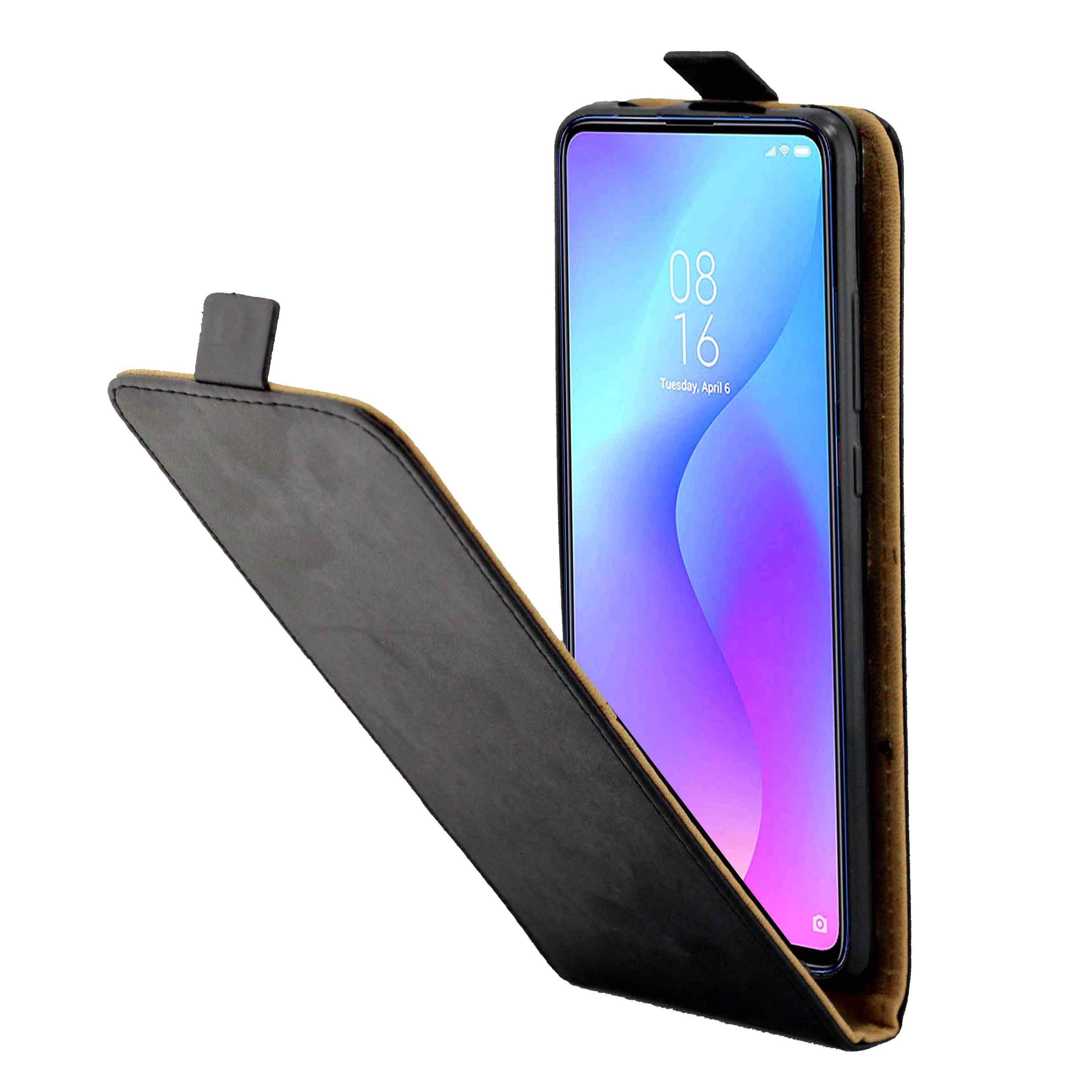 Funda trasera de TPU con ranura para tarjeta de cuero Vertical para Xiaomi Redmi K20/K20PRO/9 T/9 TPRO