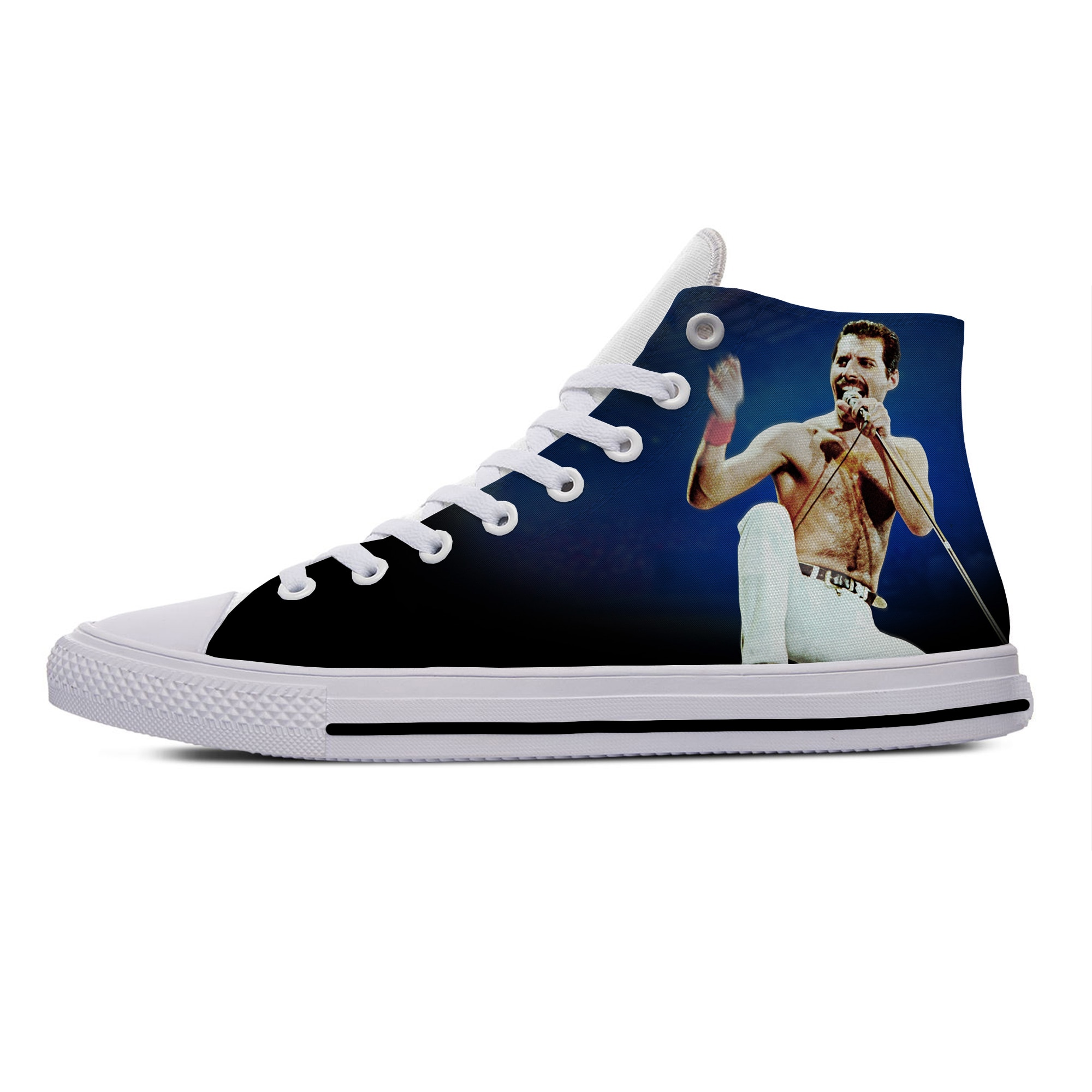 Fashion Casual Canvas Shoes Freddie Mercury The Show Must Go On Rock High Top Lightweight Breathable 3D Print Men women Sneakers
