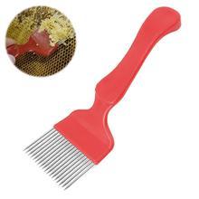 Peigne à fourchette en acier inoxydable et plastique pour apiculture, grattoir en acier inoxydable, pour miel, 1 pièce, N9Y9