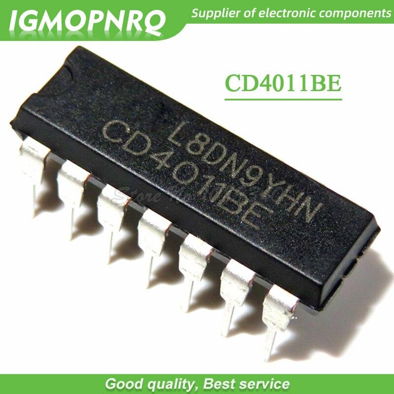 Новый оригинальный чип CD4011 CD4011BE HEF4011BP HEF4011 DIP-14 Quad 2 входа с буферами, 10 шт.