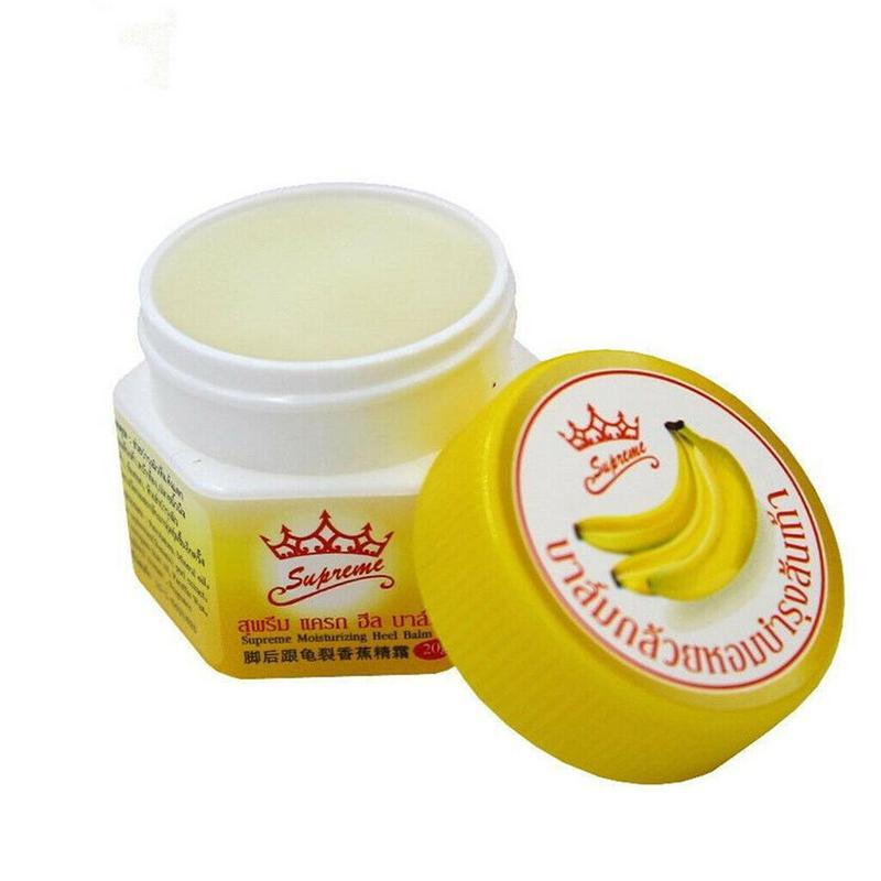 Crema de talón hidratante antigolpes para reparar el plátano de Tailandia, previene la rotura seca, ungüento para el cuidado de los pies, alivio de grietas, piel lisa