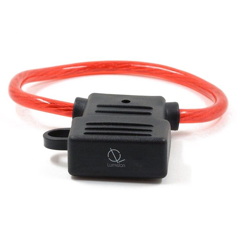 Nuevo-8 AWG calibre MAXI hoja fusible soporte en línea cable 12-24V voltios resistente al agua + 40 a fusible