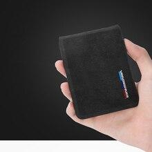 Alcantara-carte de crédit pour hommes   Support de carte, pour BMW E60 F10 F20 F30 E46 E90 F15 F16 F34 F07 X3 F25 X4 X6 E46