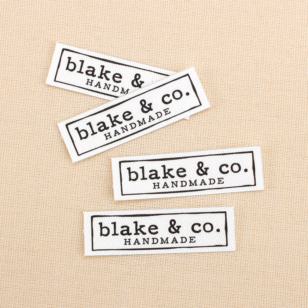 84 etiquetas de engomar personalizadas dos pces, logotipo ou texto, marca personalizada, etiquetas da roupa, escolha a fonte (tb3080)
