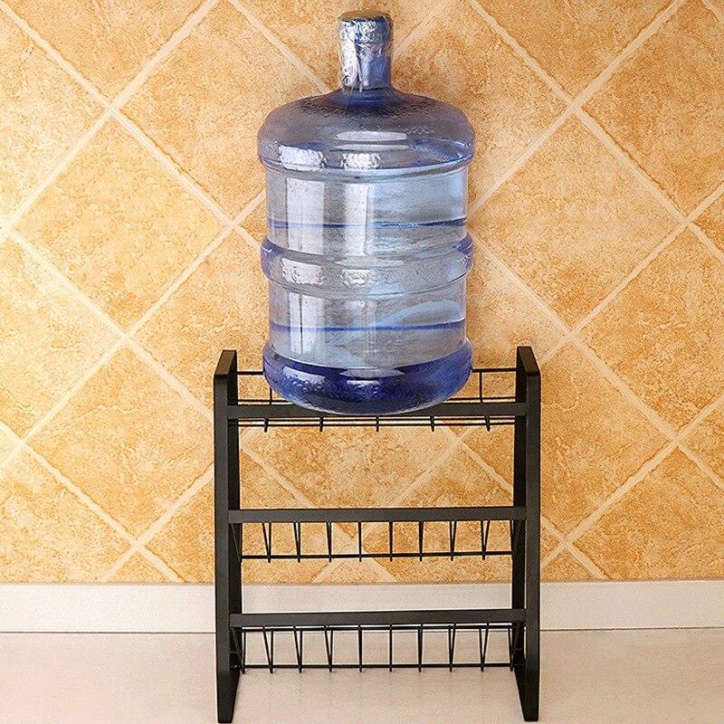 3 Layers Kitchen Spice Rack 304 Stainless Steel Countertop Spice Jars Bottle Shelf Kitchen Organizer Shelf Storage Holder Black-