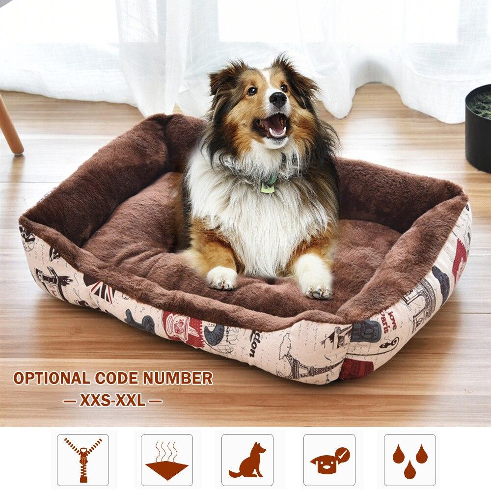 XXS-XXL cama de nido de perro mascota suave perrera invierno cálido pequeño mediano perros y gatos grandes sofá tapetes para cachorro gatito Slepping cojines para cama
