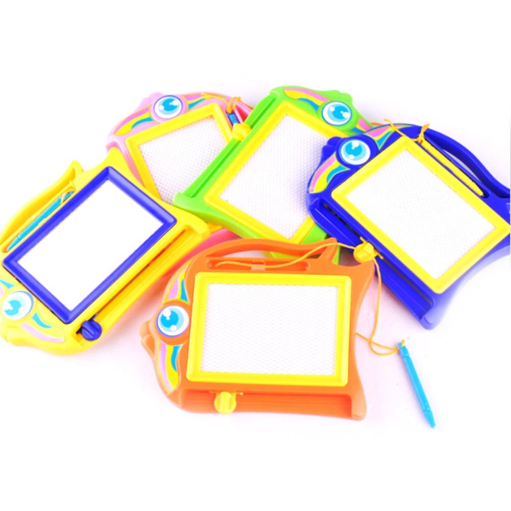 Pizarra de dibujo magnética colorida para niños, juguetes educativos de escritura, grafiti,...