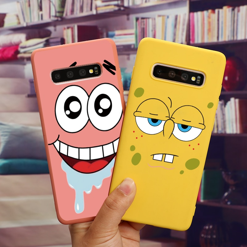 SpongeBobs Coque Phone Case For Samsung Galaxy J4 J6 A6 Plus A8 A9 A7 A5 J8 2018 J7 Prime J5 2017 2016 Note 10 Plus 8 9 Cover
