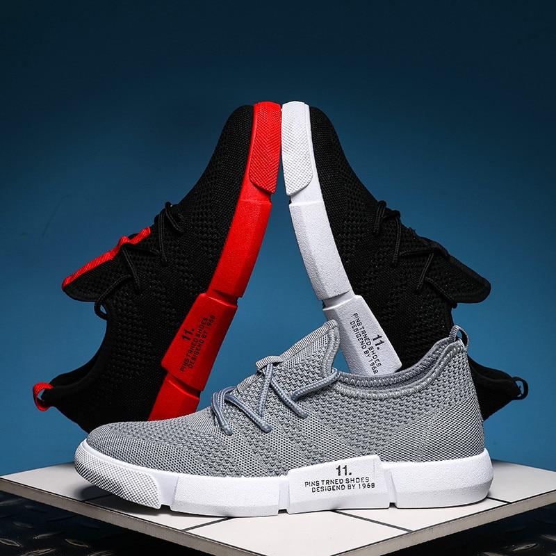 Zapatos deportivos con cordones a la moda para hombre, zapatos informales de suela baja, zapatos planos, zapatos ligeros respirables, zapato Masculino Krasovki
