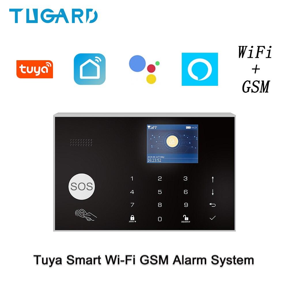WIFI GSM Home Security Alarm System Security Home Alarm Works With Amazon Alexa&Google Home Wireless&Wired Burglar Alarm