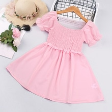 Summer Short-sleeved Tube Top Princess Dress Bridesmaid Dresses  Toddler Girl Summer Clothes 2021 Ba