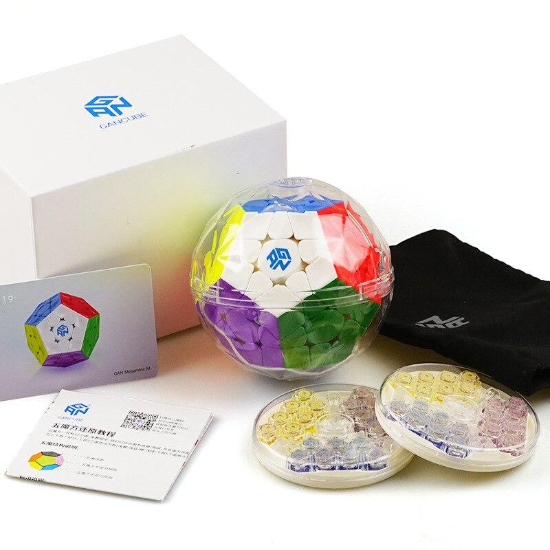 [GAN Elves Five Magic Cube] Juego profesional versión magnética doce superficie cinco cubo mágico forma especial Cubo de Rubik