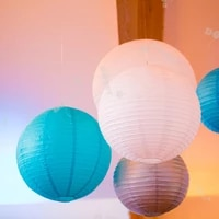 5pcslot 4 16 inch mix size chinese paper ball lampion hanging white wedding decoration paper lanterns lampshade party decor