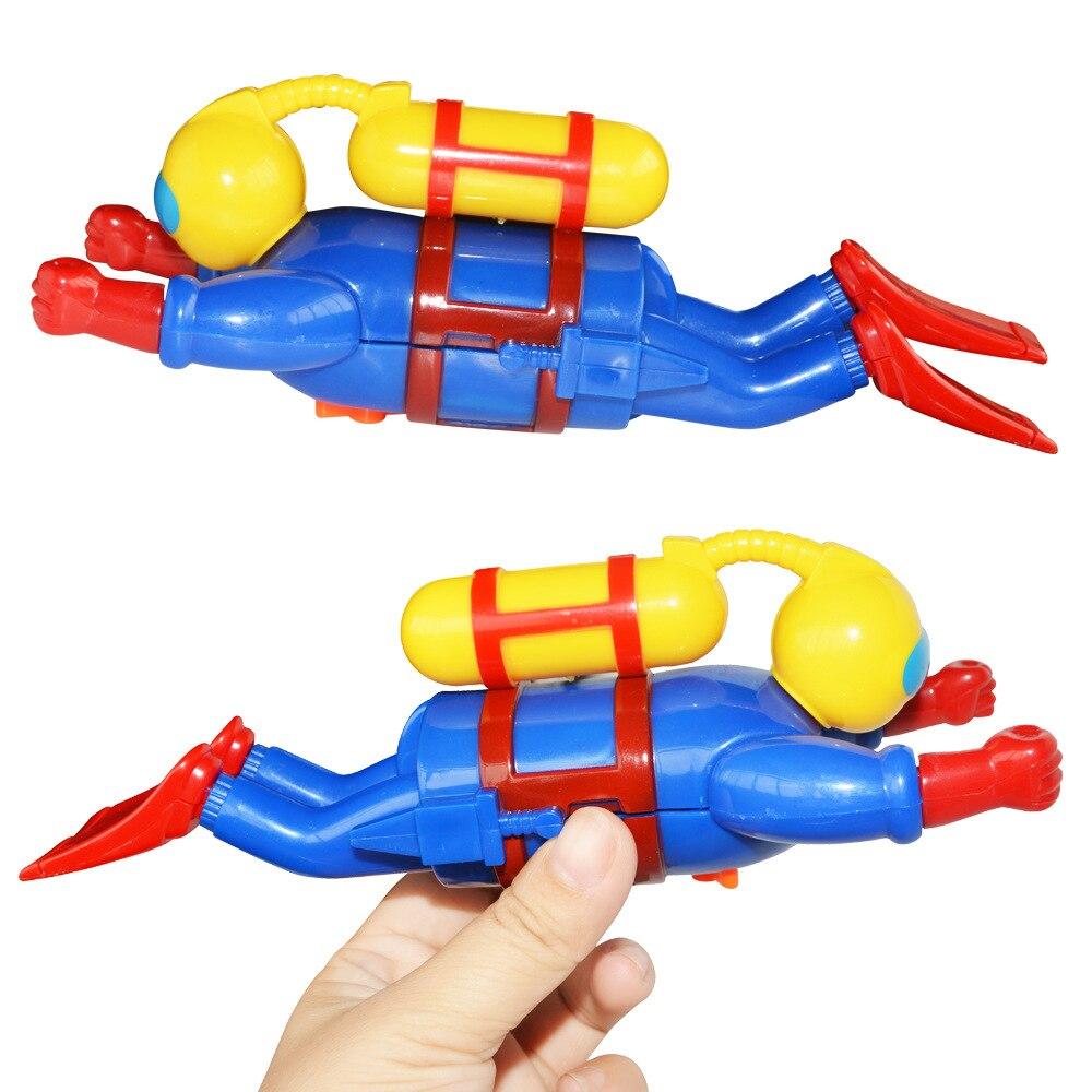 Divertido juego de muñecas de buceo, juguetes de agua para niños en la cadena, figurita de buzo, buceo, viento, natación, baño, piscina, juguetes de buceo