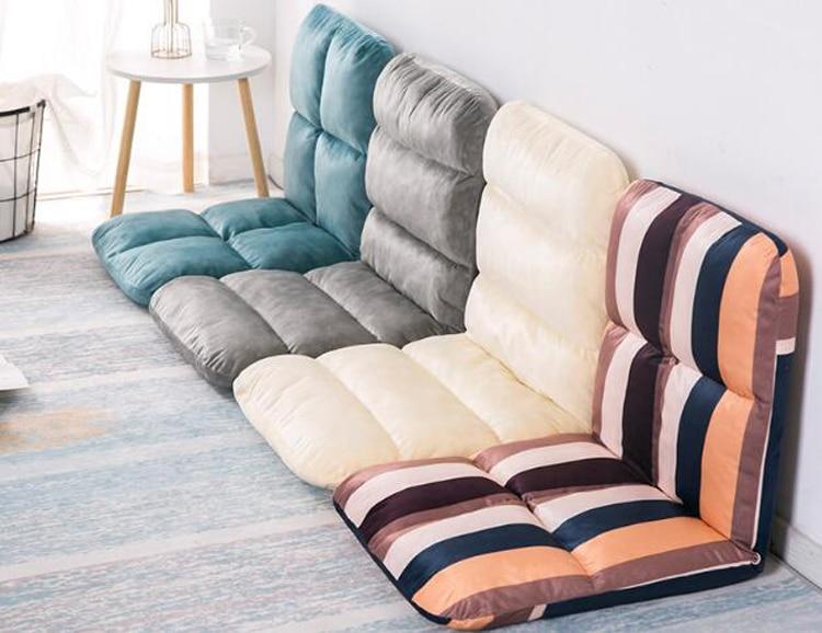 205cm extra long lazy bean bag sofa tatami folding recliner chair creative leisure sofa bed foldable space saving Lazy sofa couch tatami folding single sofa bed back chair floor sofa кресло мешок larger size