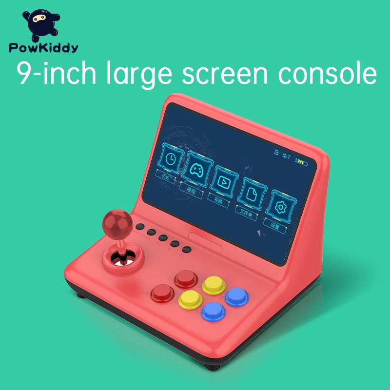 POWKIDDY-A12 وحدة تحكم الألعاب A12 ، عصا التحكم A12 9 بوصة ، الهندسة المعمارية A7 ، وحدة المعالجة المركزية رباعية النواة ، محاكي ألعاب الفيديو ، لعبة جد...