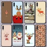 cartoon cute christmas elk for samsung galaxy a70 a52 4g a12 a325g case phone cover soft for samsung a72 a10s a20e a50 a40 coque