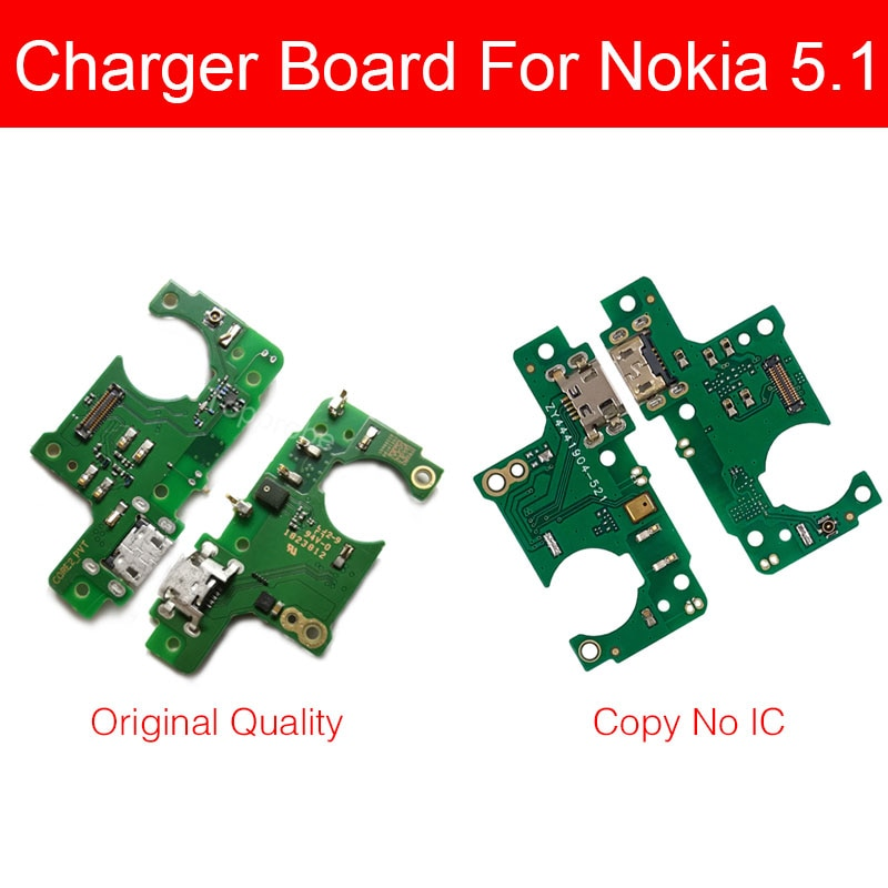 Placa dock carregador micro usb genuíno, para nokia 5.1 5 (2018) ta-1061 ta-1075 ta-1076 ta-1081 ta-1088 carga usb placa conector