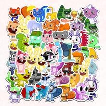 Pegatinas de dibujos animados de Happy Tree Friends para coche, Laptop, mochila de PVC, almohadilla de calcomanía para el hogar, bicicleta, bricolaje, impermeable, 2021, 50 Uds.